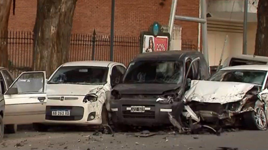 Un choque múltiple en la Avenida del Libertador dejó un herido