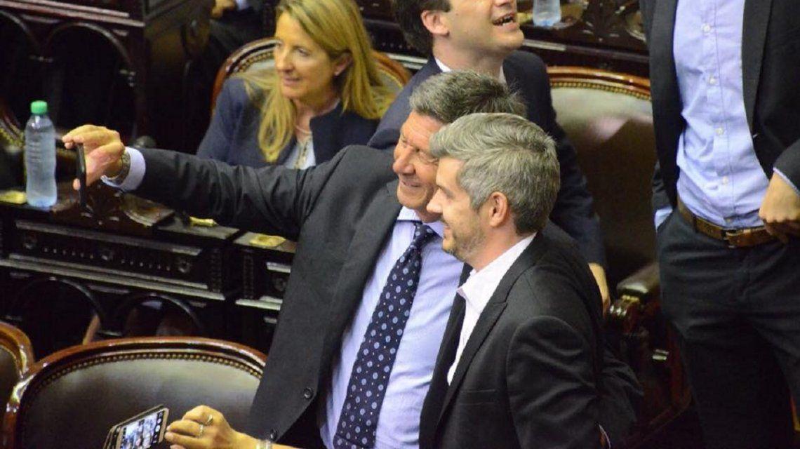 Gustavo Menna junto a Marcos Peña