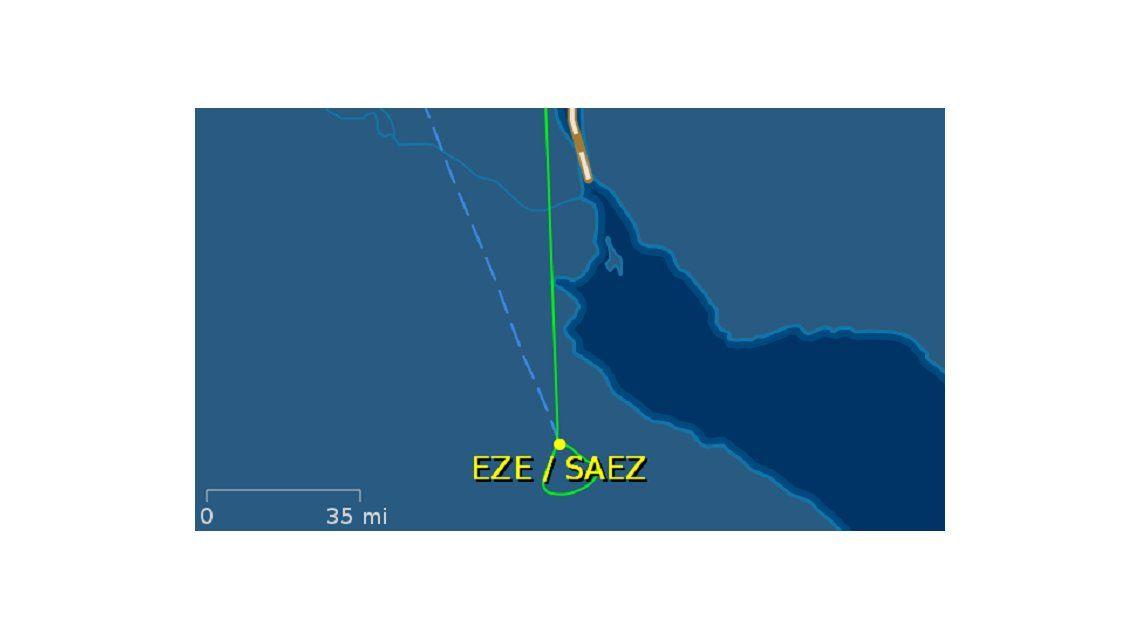 El recorrido que hizo el avión en el que iba Christine Lagarde