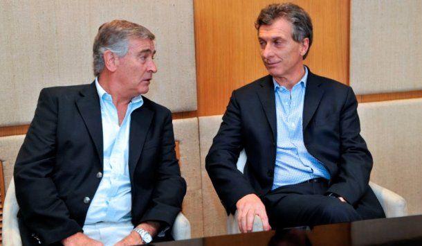 <p>Oscar Aguad y Mauricio Macri</p>