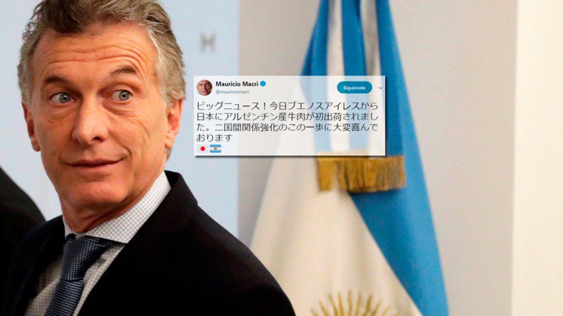 Macri tuiteó en japonés y generó una catarata de respuestas insólitas