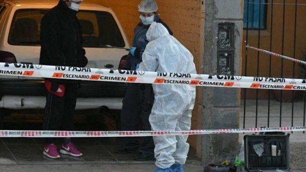 La casa donde asesinaron a las dos mujeres y al nene de 4 años. Foto: diario Los Andes.