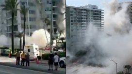 Impactante: colapsó un edificio en Miami Beach y buscan posibles víctimas entre los escombros