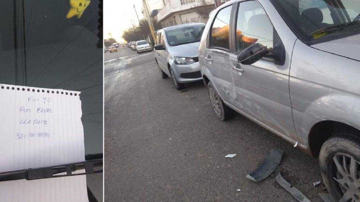 Choque por hielo en las calles de Neuquén - Crédito:Carla Sanhueza/lmneuquen