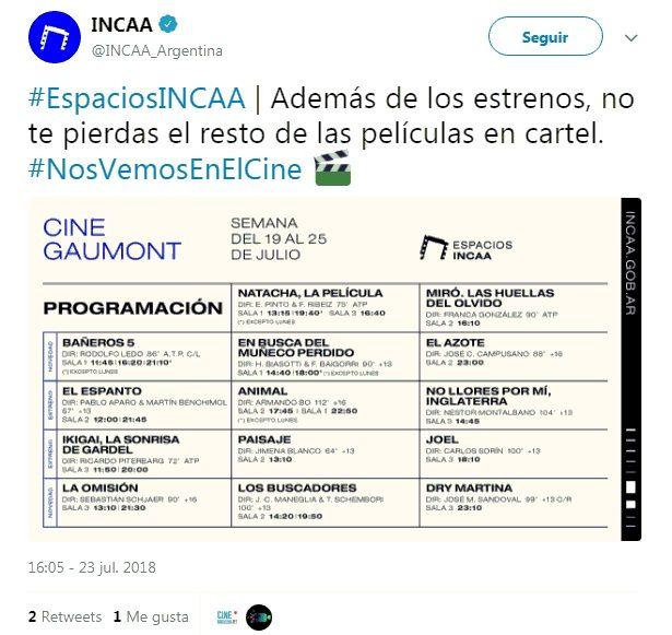 La crisis llegó al INCAA: no pagó la luz y el cine Gaumont tuvo que cerrar sus puertas