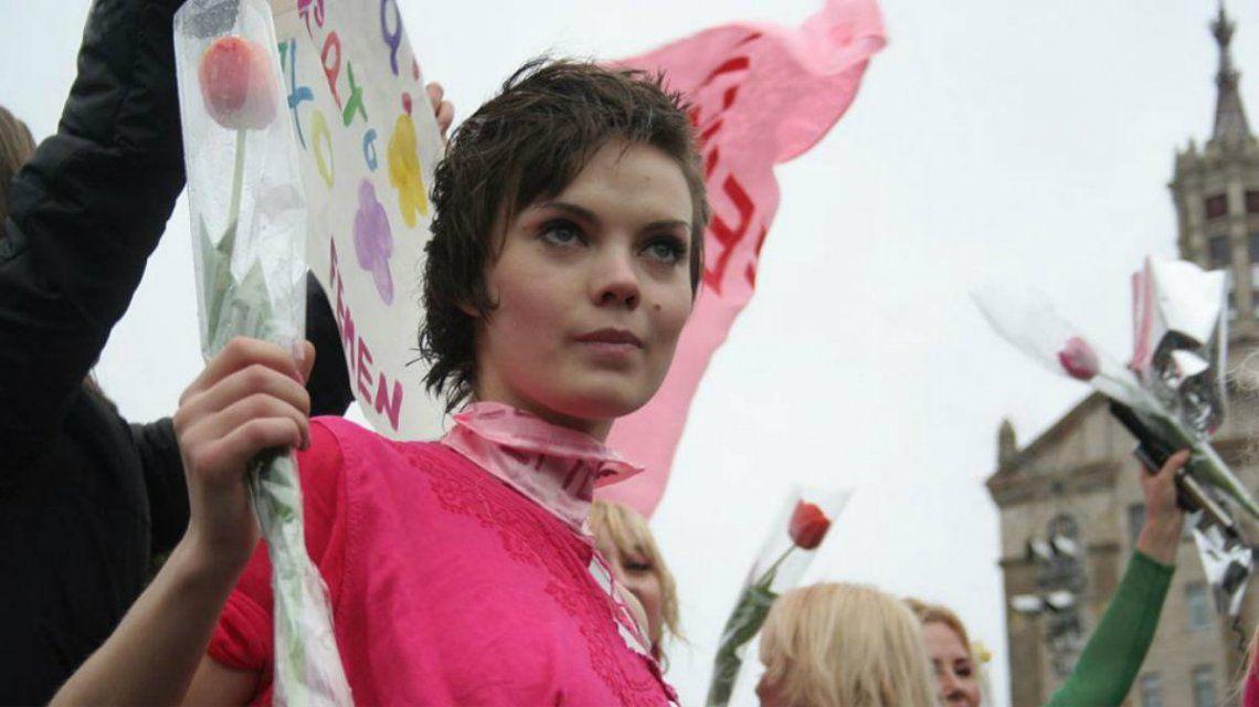 Shachkó tenía 31 años y era una de las fundadoras de Femen