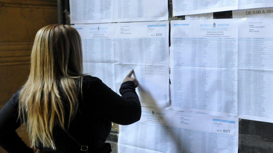 Elecciones: en las PASO votó el 74% del padrón