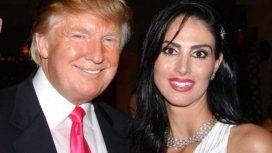 La ex Miss Brasil Nayla Micherif junto a Donald Trump