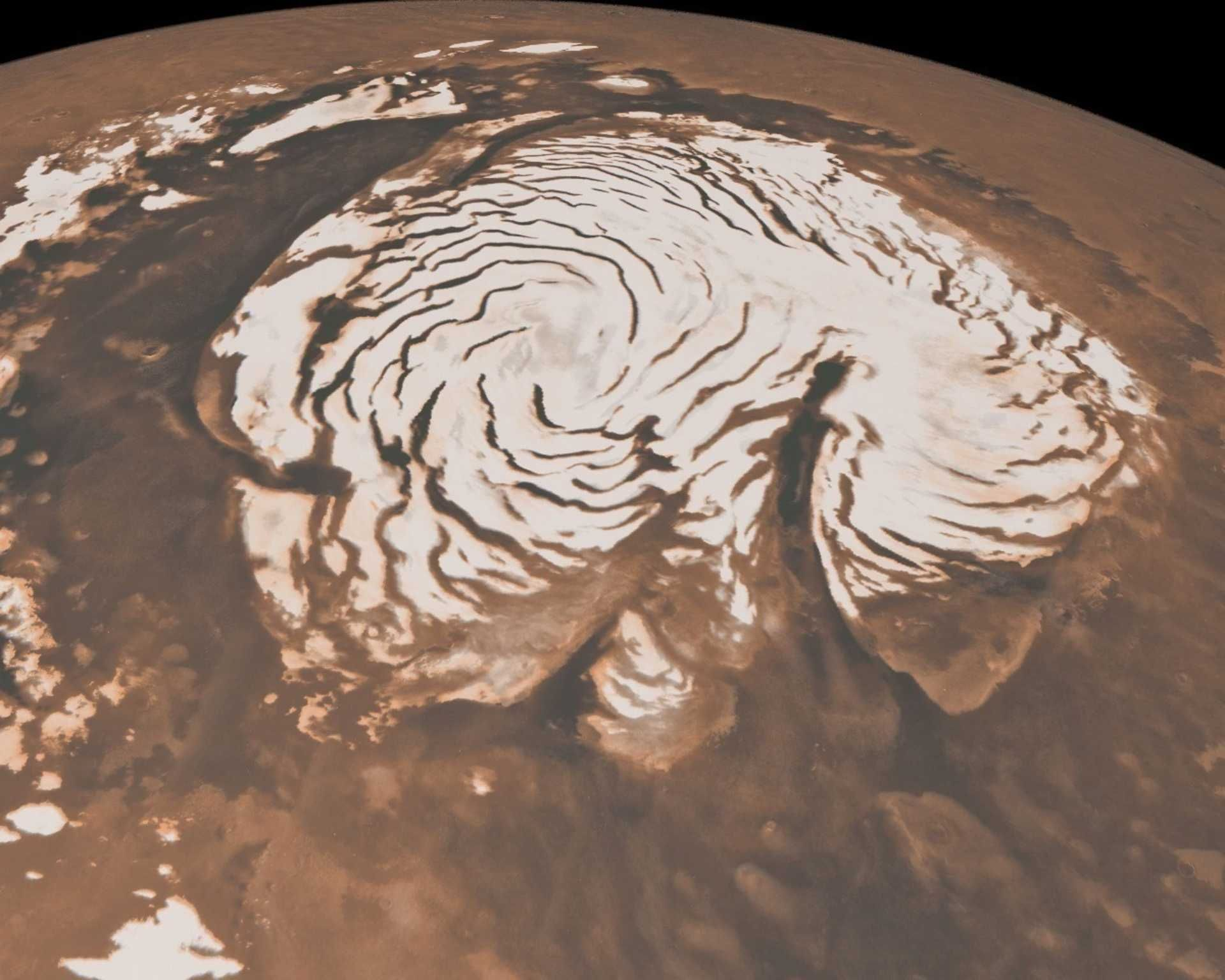 Revelan la existencia de agua líquida en Marte