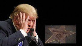 Esta vez sí que no quedó un sólo rastro de la estrella de Trump en el Paseo de la Fama de Hollywood