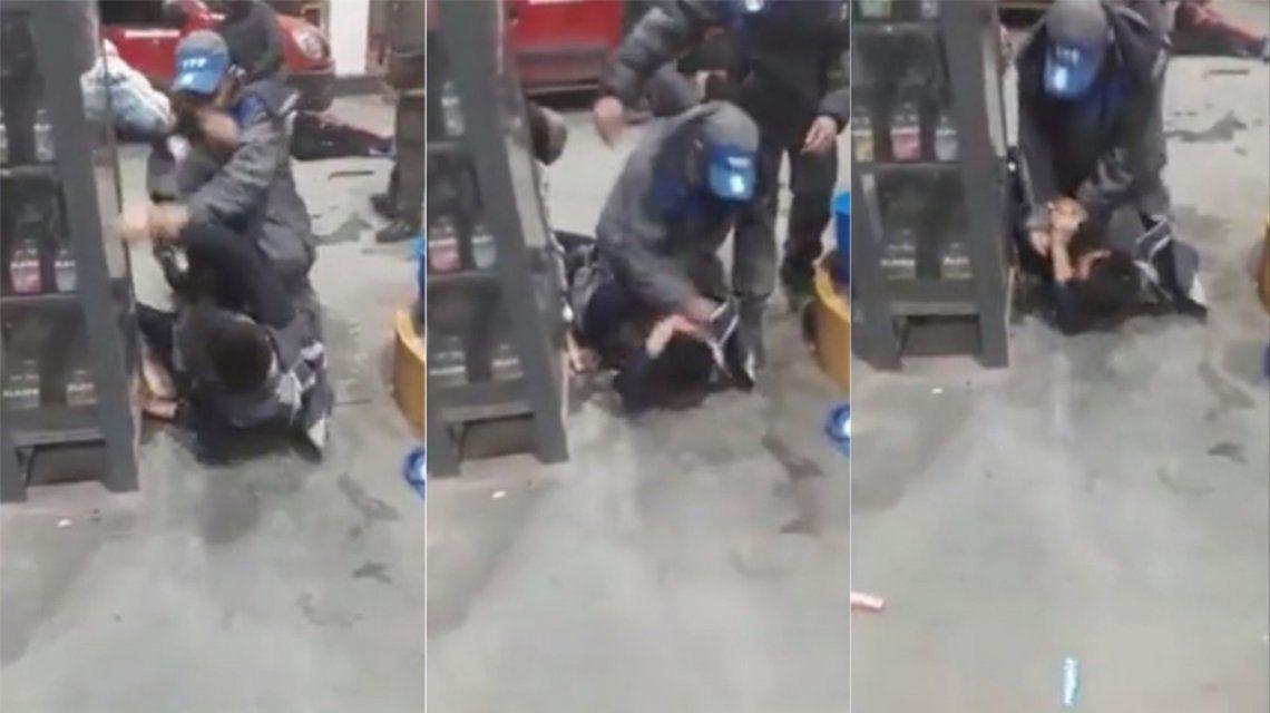 un playero le dio una paliza a un ladrón
