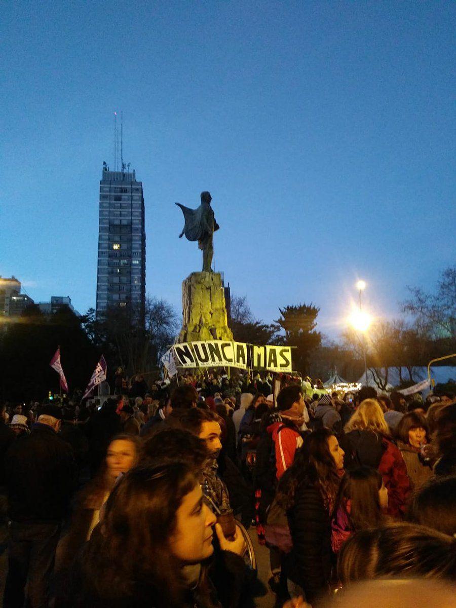 Marcha contra las Fuerzas Armadas en seguridad interna - Crédito:@abuelasdifusion