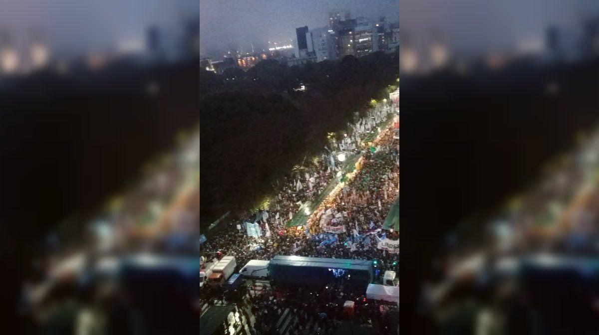 Masiva manifestación contra el uso de las Fuerzas Armadas en Seguridad Interior