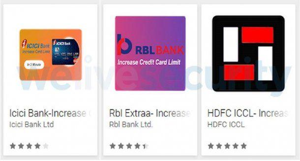 Aplicaciones que roban datos de tarjetas de crédito<br>