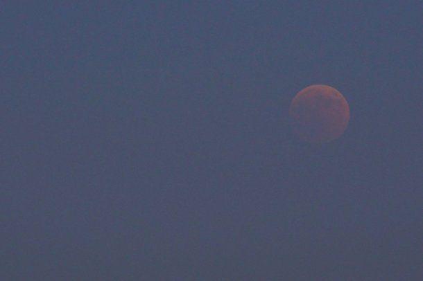 Eclipse de Luna roja - Crédito: @lopezbarea10<br>