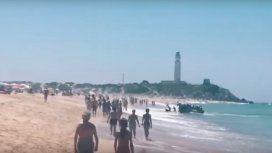 Inmigrantes desembarcan enZahora, España
