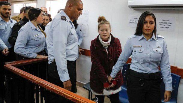 Ahed Tamimi fue condenada a ocho meses de cárcel el pasado 21 de marzo.