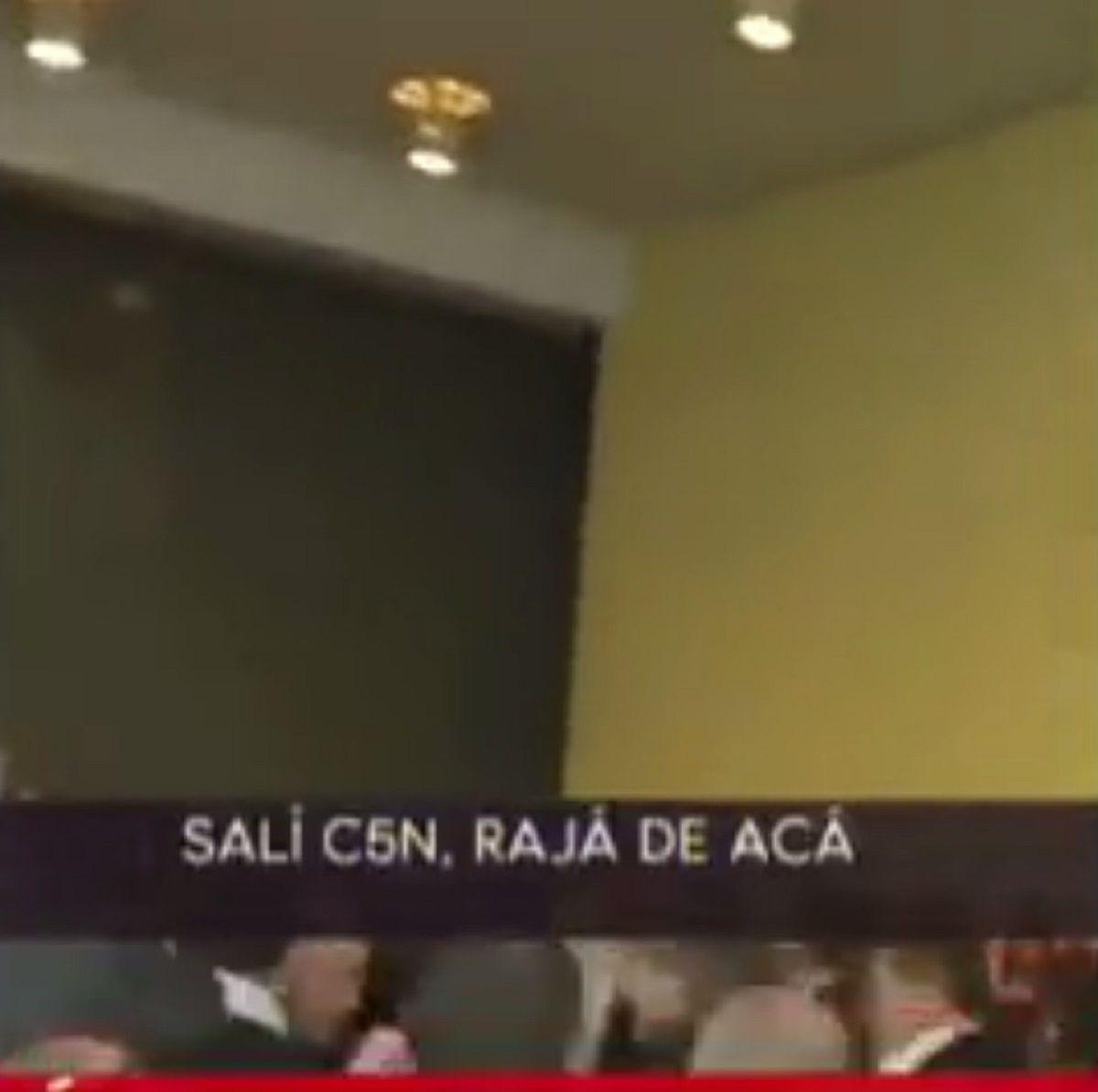 Maltro de Macri a C5N en La Rural