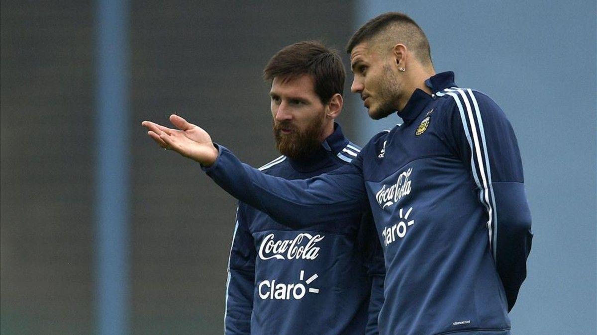 Lionel Messi y Mauro Icardi