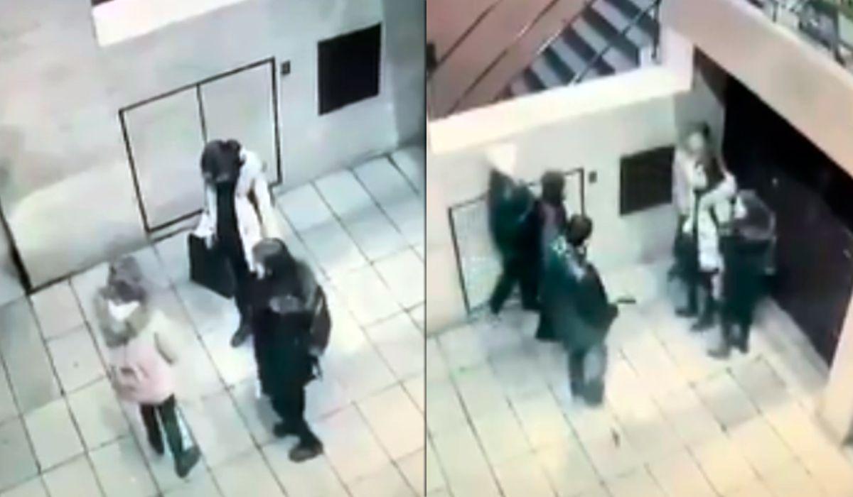 VIDEO: Violento robo a tres mujeres en la puerta de un edificio en Recoleta