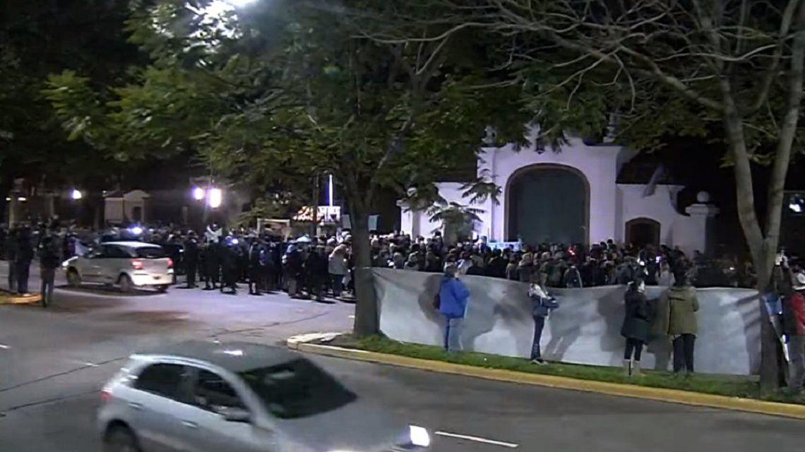 Militantes antiaborto marcharon en la Quinta de Olivos