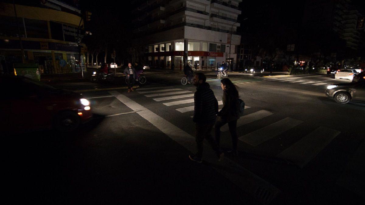 Por varias horas una de las ciudades más pobladas de la Argentina estuvo en penumbras