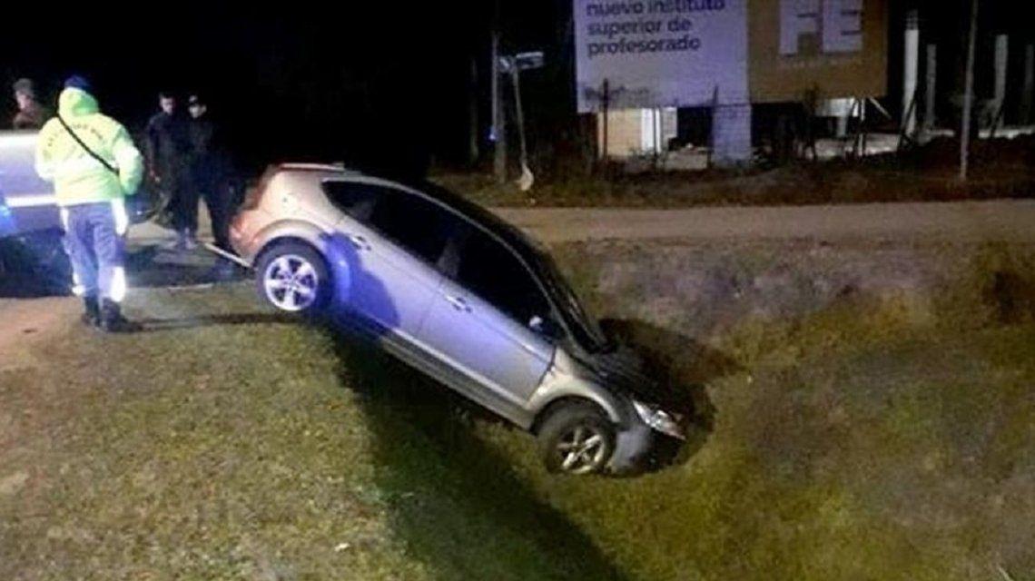 Así quedó el auto de Federico Gasparutti