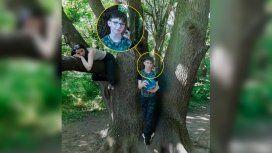 Le sacó una foto a su hijo y descubrió una figura aterradora
