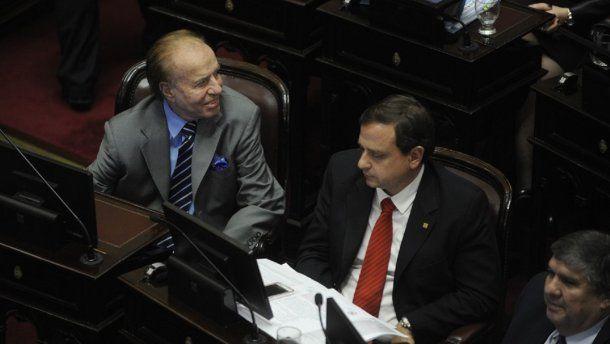 <p>Carlos Menem ratificó su rechazo al proyecto de despenalización del aborto.</p>