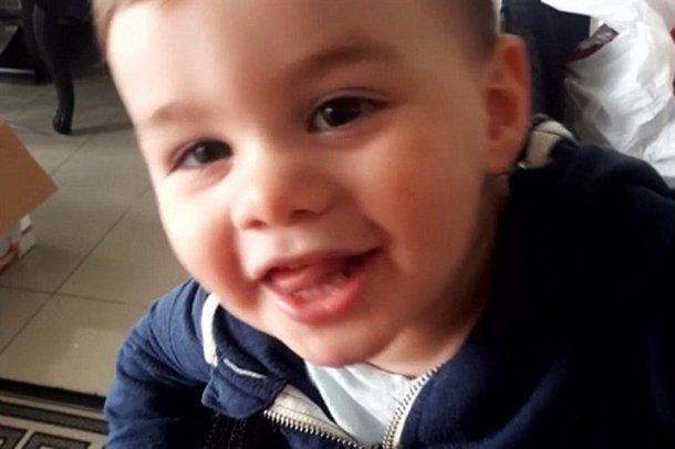 Zane, de 3 años, antes de morir.