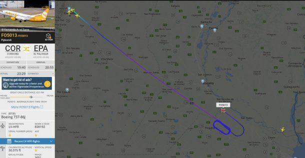 Este es el recorrido que hizo el vuelo