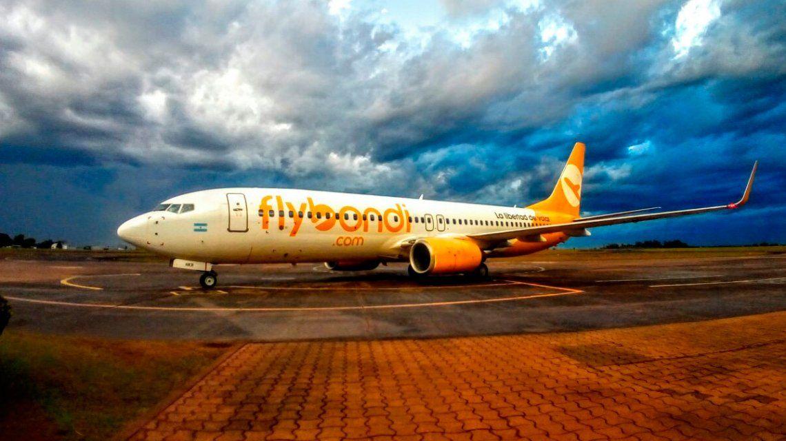 El vuelo tuvo que volver a Córdoba por las condiciones climáticas