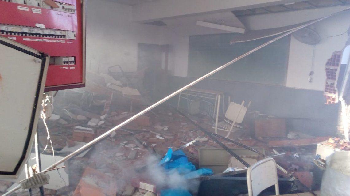 Explosión en un colegio de Moreno