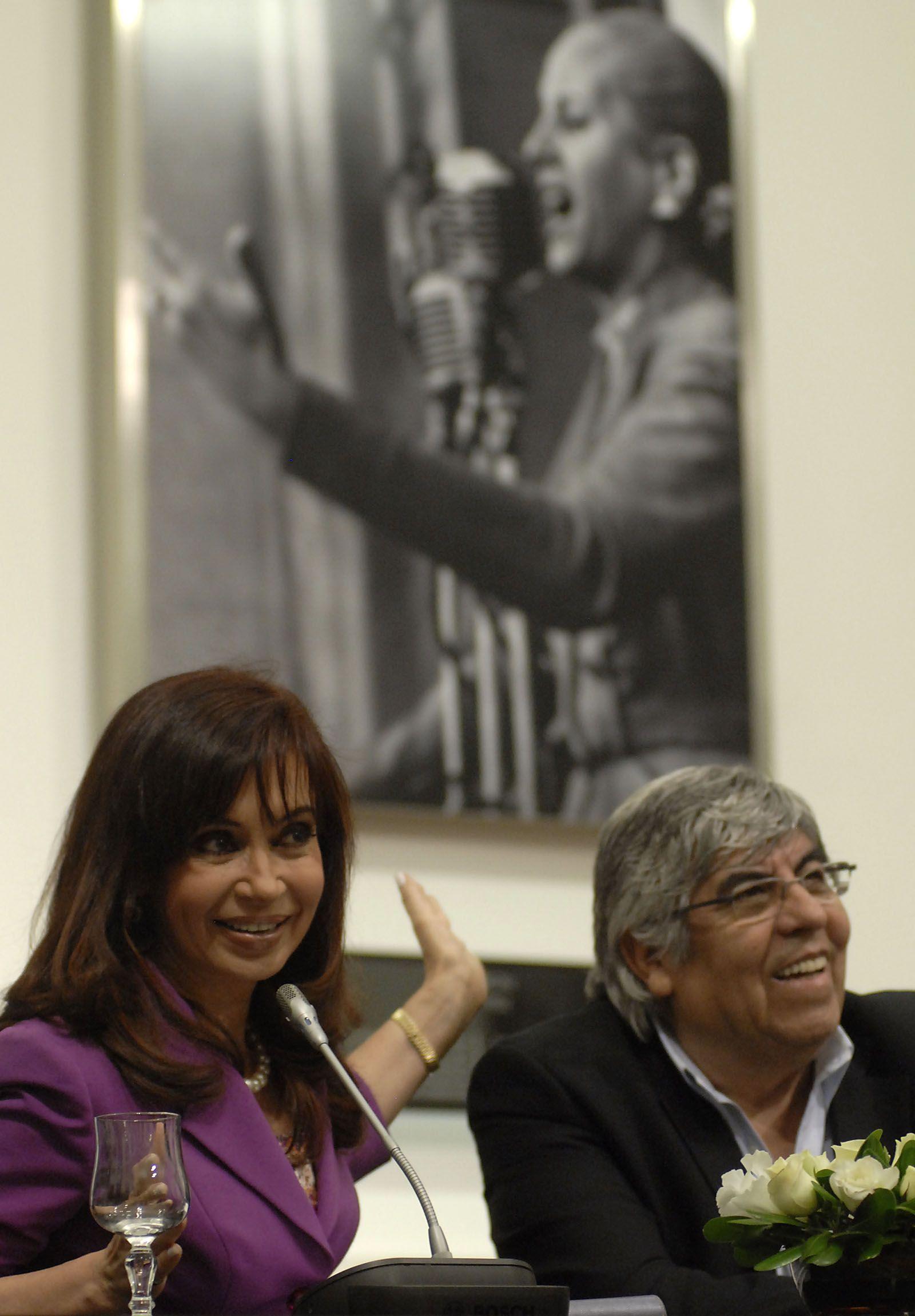 Cristina Kirchner y Hugo Moyano
