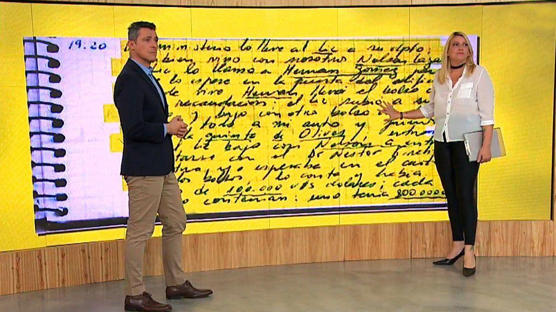 Los cuadernos de las coimas, en detalle: ¿cómo fueron escritas las notas de Centeno?