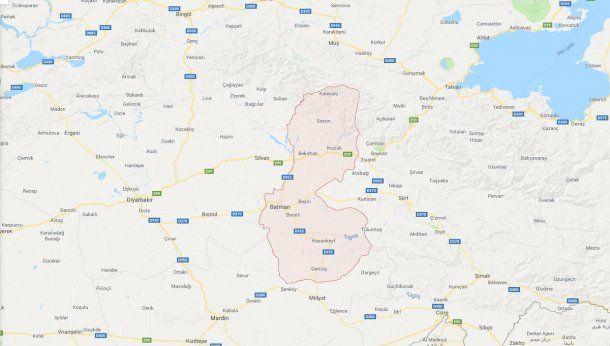 Así se ve en 2018 la provincia turca de Batman