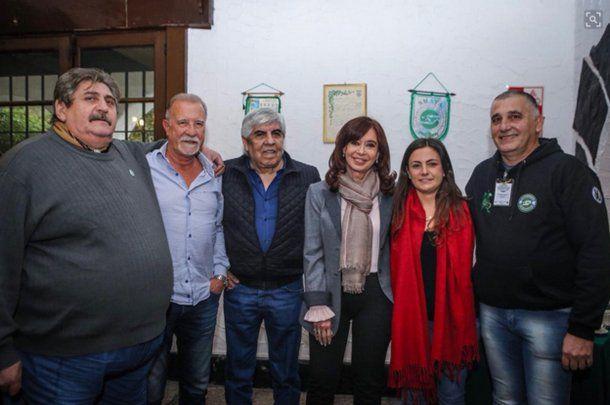Hugo Moyano y Cristina Kirchner, juntos<br>