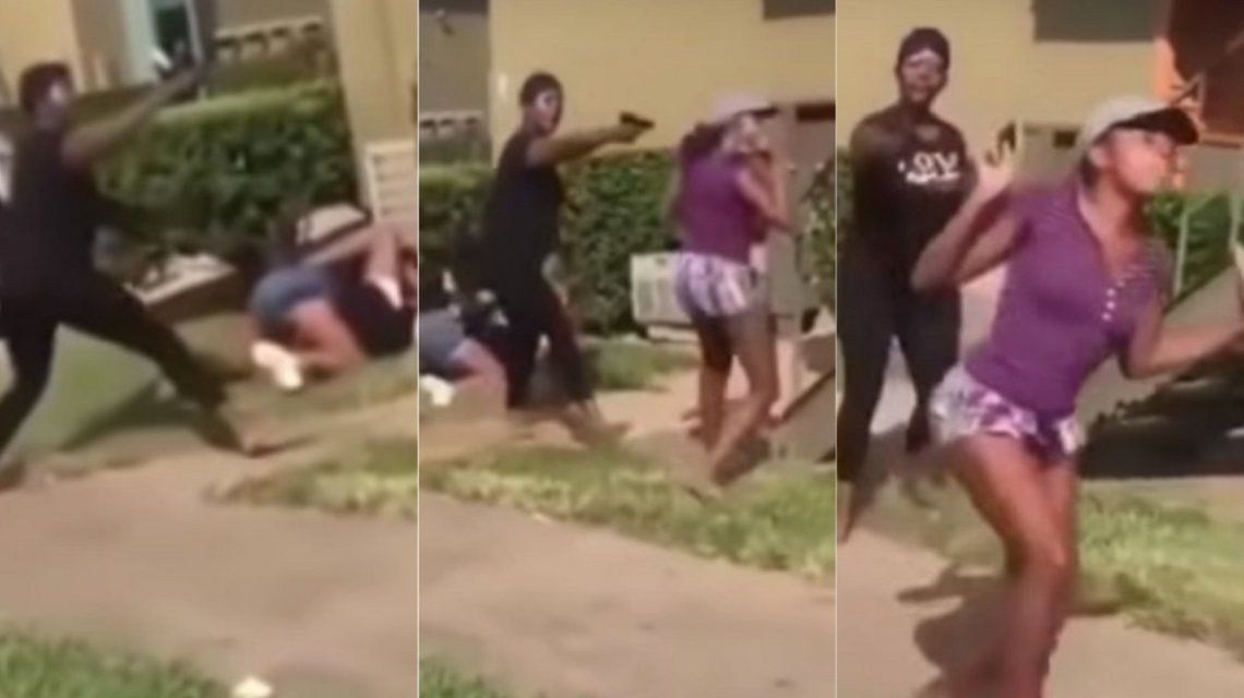 Apuntó con una pistola a una chica para que no detenga una pelea