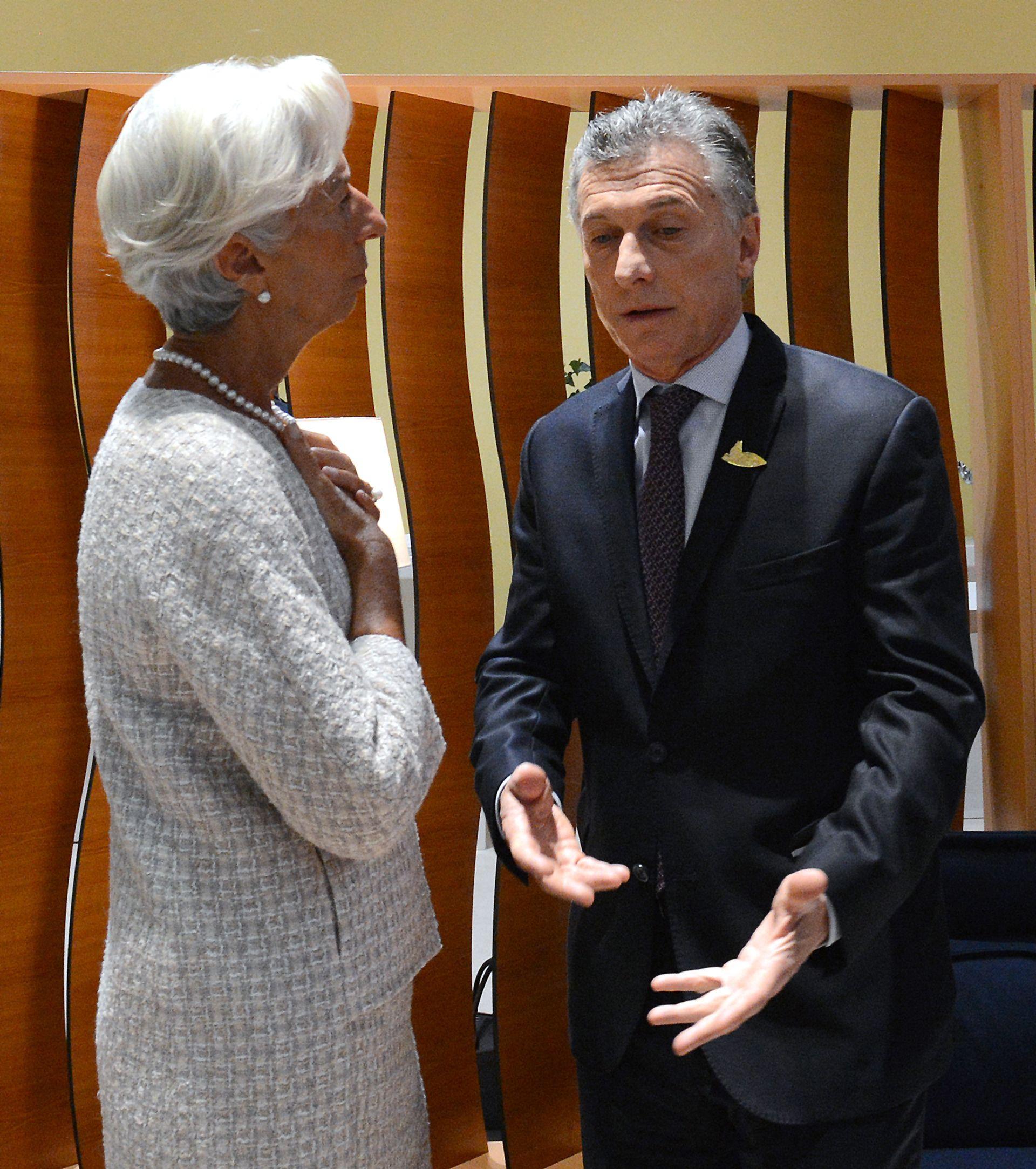 Christine Lagarde y Mauricio Macri