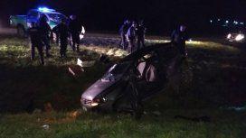 El auto cayó a un barranco