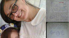 Sandra presentó una nota con los problemas que tenía la escuela en la que murió
