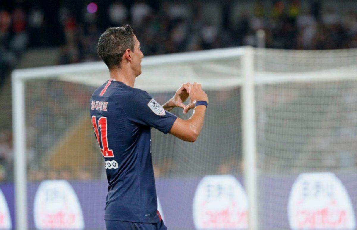 Ángel Di María celebra uno de sus goles