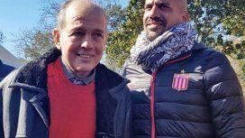 Sabella con Verón en el aniversario de Estudiantes - Crédito: Instagramedelpoficial