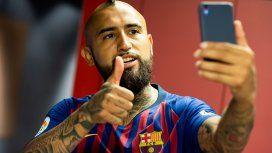Arturo Vidal en Barcelona - Crédito: Facebook Barcelona
