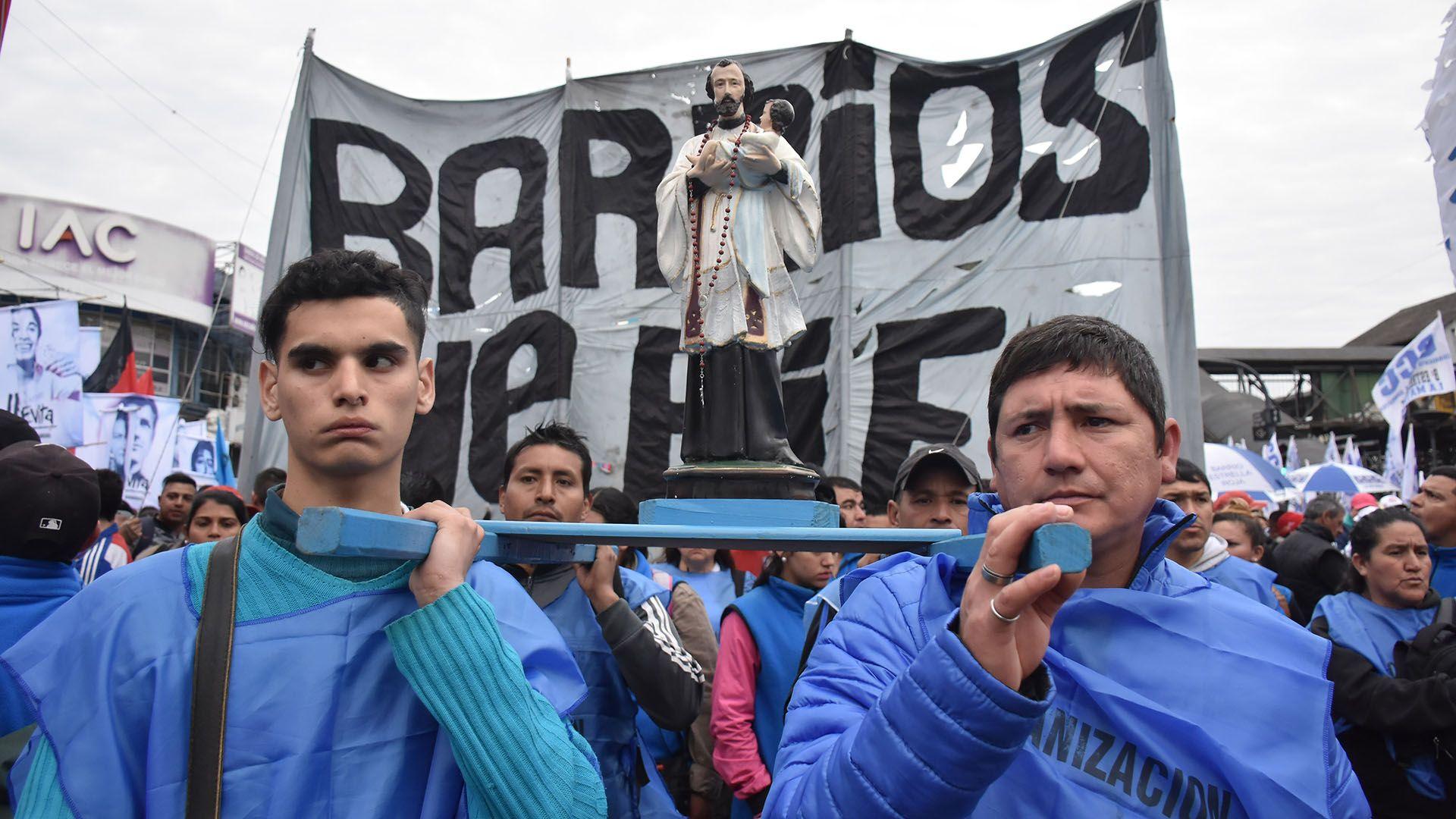 Barrios de Pie es una de las organizaciones sociales que se moviliza