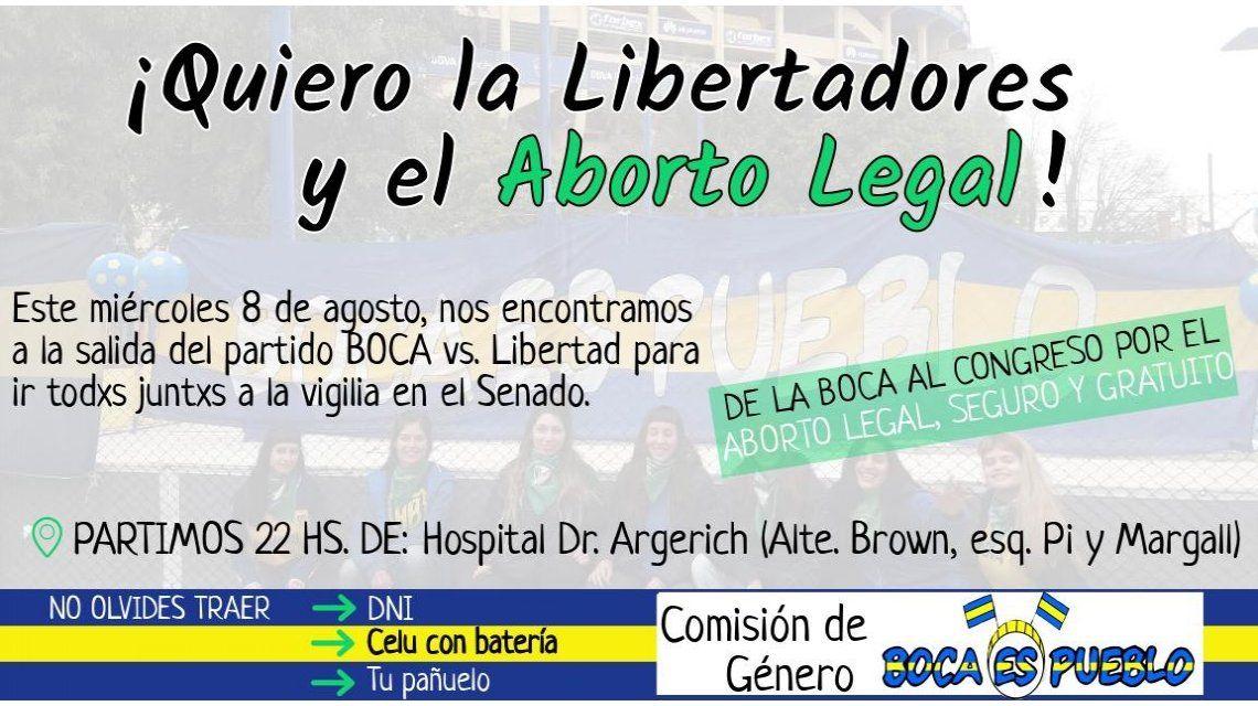 Quiero la Libertadores y el aborto legal: hinchas de Boca se organizan para marchar al Congreso