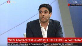 Hugo Moyano (h), secretario de Asuntos Jurídicos de Camioneros
