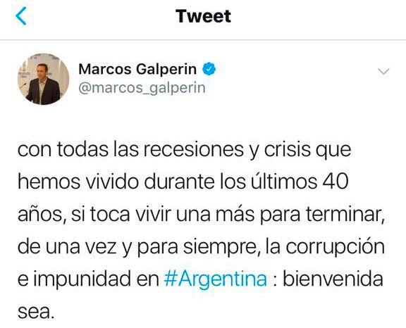 Inaudito: Marcos Galperín, CEO de Mercado Libre, celebró la recesión y la crisis