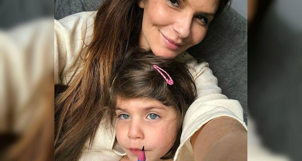 Holman y su hija de cuatro años