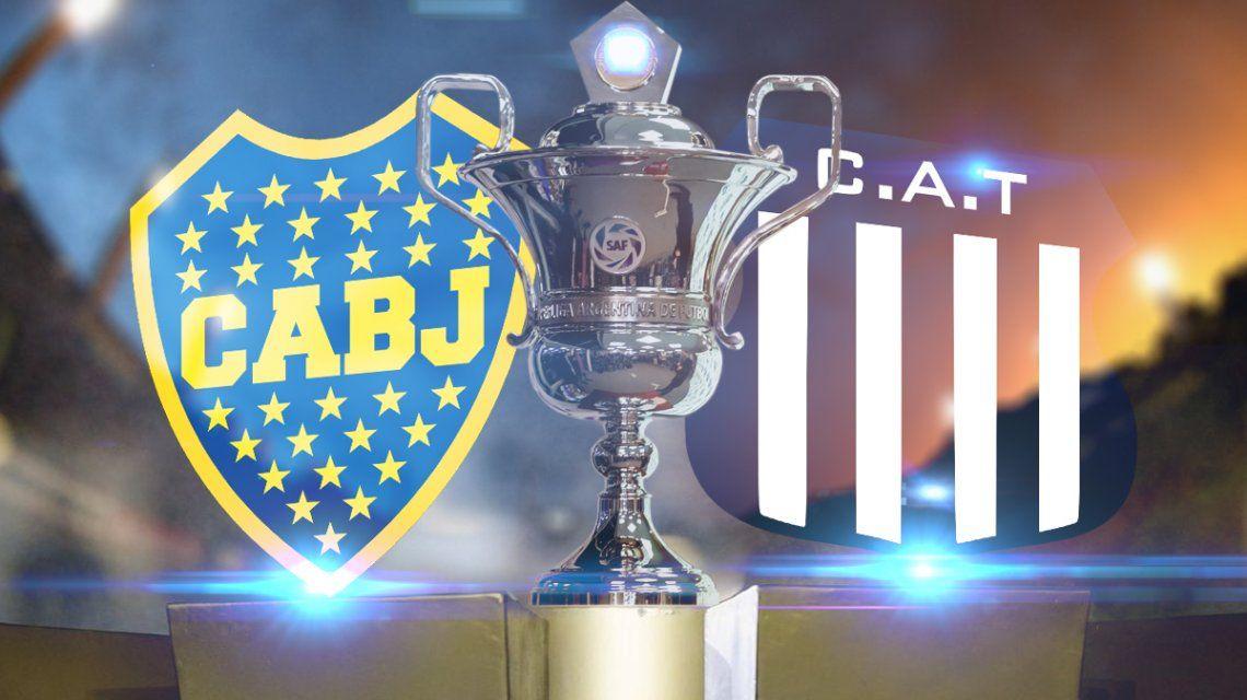 Boca vs Talleres de Córdoba: formaciones, horario y TV